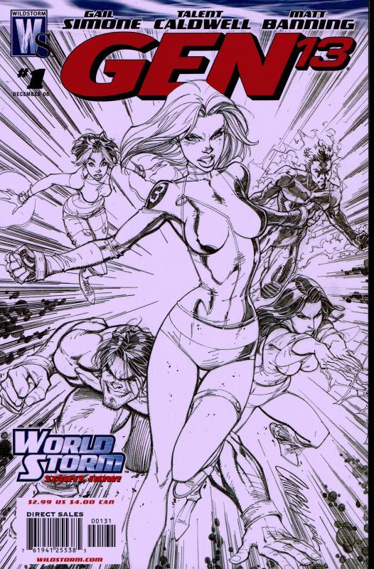 Gen 13 (2006 4th Series) 1 in 50 Sketch Cover - NM