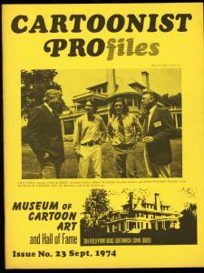 CARTOONIST PROFILES #23-1974-STAN LEE-SPIDER-MAN VG/FN