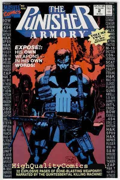 PUNISHER ARMORY #2, NM+, Jim Lee, weapons, bombs, 1991, more Marvel in store