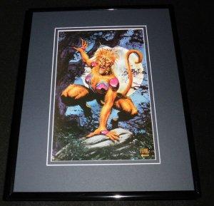 Feral Marvel Masterpieces ORIGINAL 1992 Framed 11x14 Poster Display