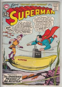 Superman #154 (Jul-62) FN+ Mid-Grade Superman, Jimmy Olsen,Lois Lane, Lana La...