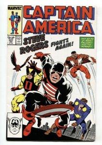Captain America #337 comic book 1987-Steve Rogers Avengers #4 cover