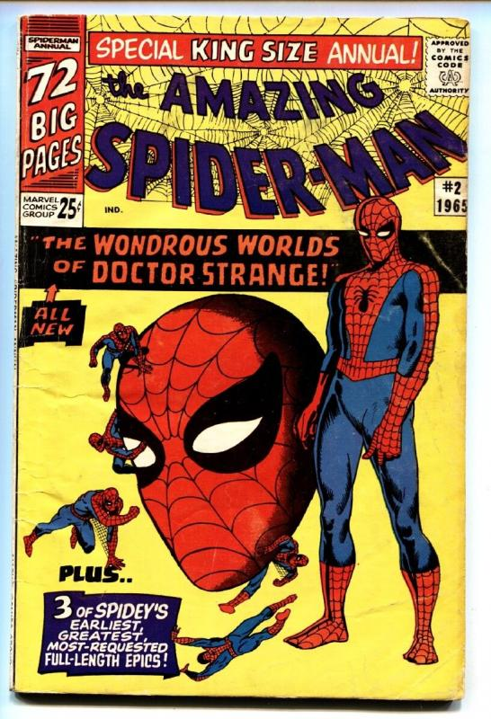 AMAZING SPIDER-MAN ANNUAL #2 comic book-1965-DOCTOR STRANGE- VG