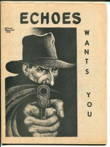 Echoes #1 1982 -Faded Shadows-Shadow cover-pulp fanzine-rare-FN