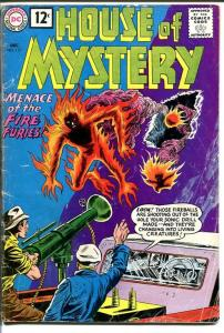 HOUSE OF MYSTERY #117 1961-WILD ALIEN COVER-FIRE FURIES G