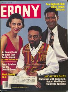 Ebony 9/1990-Mo' Better Blues-Spike Lee-Denzel-Cynda Williams-FN