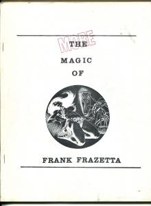 More Magic of Frank Frazetta 1970's-full page Frazetta illustrations-rare-VG