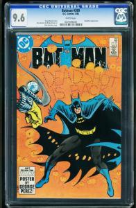BATMAN #369-CGC 9.6 WP-DEADSHOT-HIGH GRADE DC NM