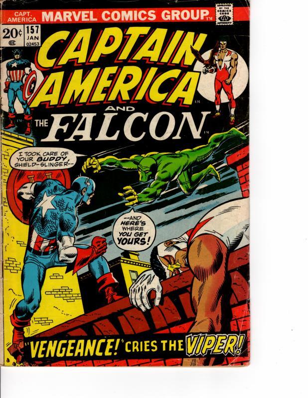 MARVEL Captain America (1968 Series) #157 AUG 1973 FN-