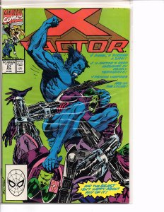 Marvel Comics X-Factor Vol. 1 #57 NM Andy Kubert Cover & Art