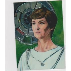 1996 Topps Finest Star Wars MON MOTHMA #4 Chromium