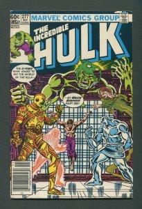 The Incredible Hulk #277  /  6.0 FN  /  Newsstand /  November  1982