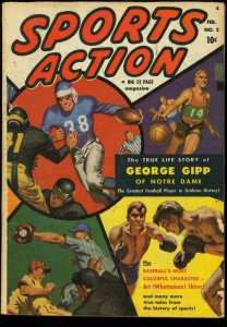 SPORTS ACTION #2-GEORGE GIPP-BOXING-FOOTBALL 1950 VG