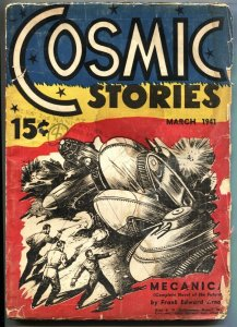 COSMIC STORIES #1-MAR 1941-ISAAC ASIMOV-HANNES BOK-PULP g