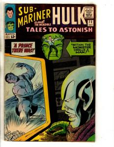 Tales To Astonish # 72 FN/VF Marvel Comic Book Sub-Mariner Incredible Hulk FH2