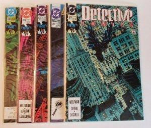 DC Batman Detective Comics #626, 627, 628, 629, 630 Comic Book Lot (5) NM 9.4