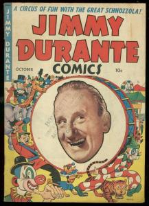 JIMMY DURANTE COMICS #18 1948-TIGER COVER-DICK AYERS VG/FN