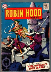 ROBIN HOOD TALES #7-FIRST ISSUE-1957-DC-ANDRU AND ESPOSITO COVER ART-GLOSSY VG