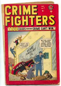 Crime Fighters #7 1949- Marvel Golden Age comic VG