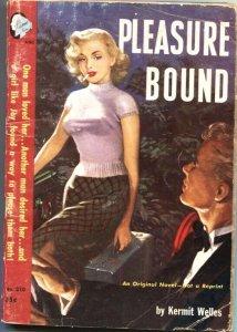 PLEASURE BOUND #310-1952-HARDBOILED PULP THRILLS-SPICY HEADLIGHT COVER ART