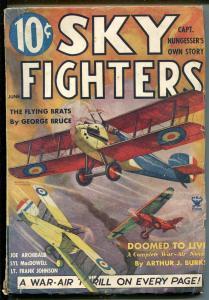 SKY FIGHTERS 6/1935-AIR WAR PULPS-WWI-BI-PLANE-vg/fn