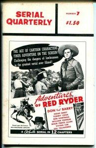 Serial Quarterly #6 1966-serial synopsis-Red Ryder-Jungle Queen-Vigilante-VG/FN