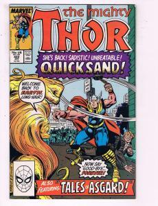 The Mighty Thor #402 VF Marvel Comics Comic Book Avengers Quicksand DE13