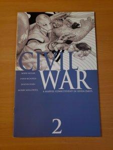 Civil War #2 Blue Variant ~ NEAR MINT NM ~ 2006 Marvel Comics