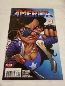 America 1 Near Mint Cover by Joe Quinones