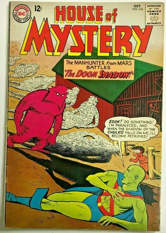 HOUSE OF MYSTERY#146 FN 1964 DC SILVER AGE COMICS