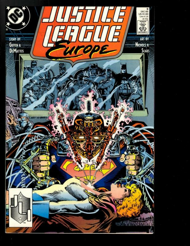 12 Justice League Europe DC Comics # 1 2 3 4 5 6 7 8 9 10 11 12 JF26