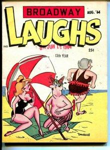 Broadway Laughs 8/1964-jokes-spicy cartoons-swim suit-ice cream-FN