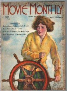 Movie Thrillers Title Change To Movie Monthly Pulp 7/1925-Tom Mix-Leo Kober-VG-