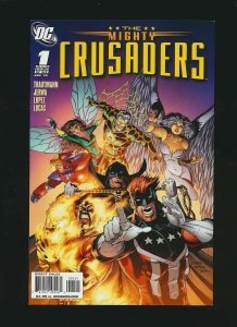 The Mighty Crusaders #1 VARIANT COVER BY IAN CHURCHILL NEAR MINT.