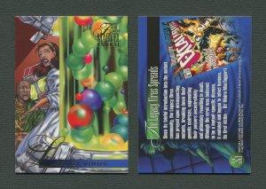 1995 Flair Marvel Annual Card #35 (Legacy Virus)  MINT