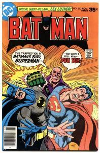 BATMAN #293-1977-DC-MOVIE ISSUE-SUPERMAN--LEX LUTHOR--HIGH GRADE