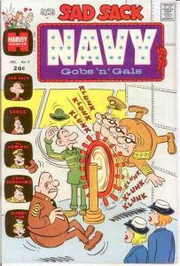 SAD SACK NAVY GOBS N GALS (1972-1973) 3 F-VF COMICS BOOK