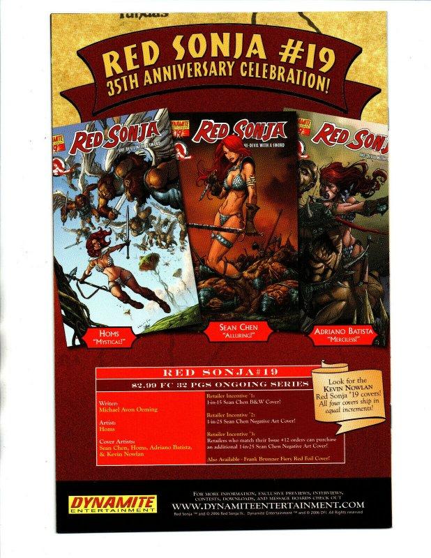 Red Sonja She-Devil with a Sword #18 Lopresti Variant - Dynamite - 2006 - (-NM)