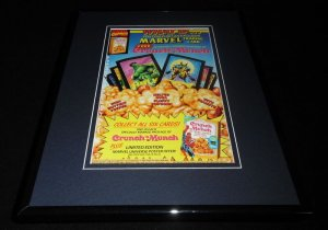1993 Marvel / Crunch N Munch Framed 11x14 ORIGINAL Advertisement Spiderman Hulk