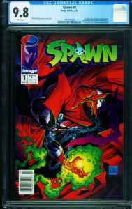 Spawn #1 1992 CGC 9.8 White Pages- NEWSSTAND VARIANT 1997006003