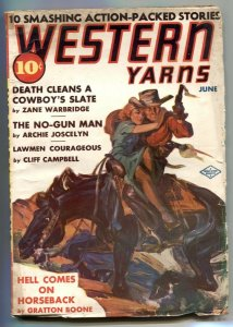 Western Yarns Pulp June 1939- Zane Warbridge-Archie Joscelyn VG