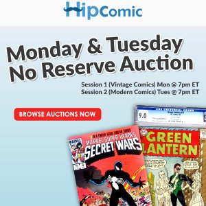 The 136th HipComic No Reserve Auction Event