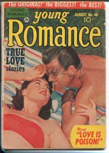 YOUNG ROMANCE #48 152-PRIZE-PHOTO COVER-SIMON & KIRBY-RARE-vg minus