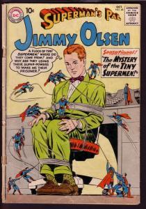 SUPERMAN'S PAL JIMMY OLSEN #48 1960-TINY SUPERMEN ISSUE FR