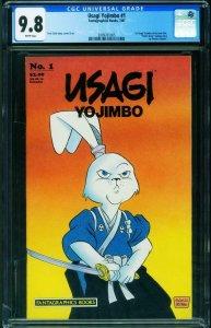 Usagi Yojimbo #1 CGC 9.8 1987 1st issue-Stan Sakai-2009761005