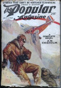 Popular Magazine 10/7/1924-Aviation cover-Dane Coolidge-pulp stories-VG-