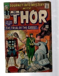 Journey Into Mystery # 116 VG- Marvel Comic Book Thor Loki Odin Asgard Sif RB8