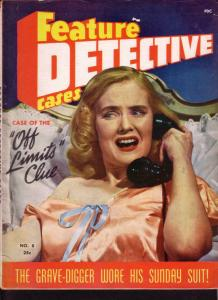 FEATURE DETECTIVE CASES 1946 #8 TERRIFIED WOMAN IN BED FN