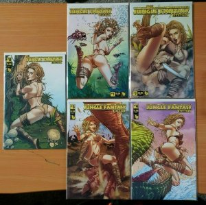 Jungle Fantasy Secrets 0 + 1-4 Ivory VARIANT Complete Set Run! ~ NEAR MINT NM