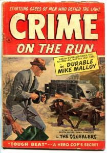 Crime On The Run #8 1954-St. Johns-Approved Comics-Tommy Gun-Dillinger-G+